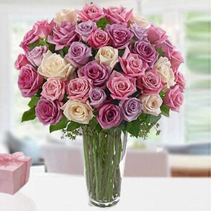 3 درزن من الورد: باقة زهور عيد أم سعيد