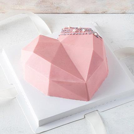 3D Edible Diamond Heart: كيك البيناتا