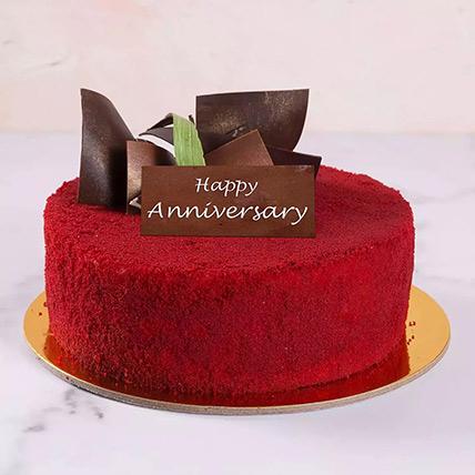 كيكة الريد فيلفيت الكريمية للاحتفال بالذكرى السنوية نصف كجم: Order Red Velvet Cakes
