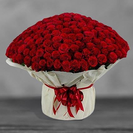 300 Red Roses Arrangement: