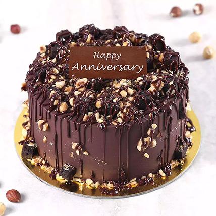 كيكة الشوكولاتة المقرمشة بالبندق للذكرى السنوية نصف كجم: كيك لمناسبات الذكرى السنوية