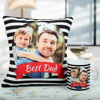 Best Dad Cushion And Mug Combo: Order Mugs Online