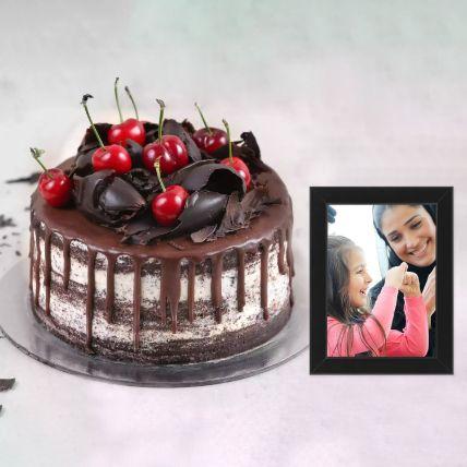 Black Forest Cake & Photo Frame: هدايا الكومبو أون لاين