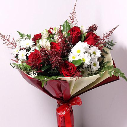 Christmas Themed Flower Bouquet: