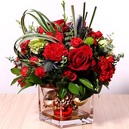 Decorative Xmas Floral Vase: هدايا الكريسماس أون لاين