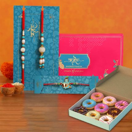 Delicious Donuts & Rakhi Set: