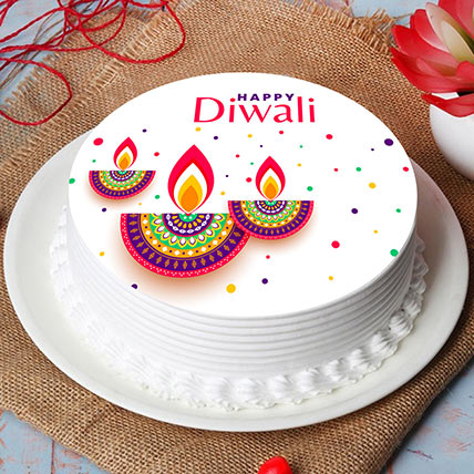 Diwali Diyas Print Cake: هدايا ديوالي أون لاين