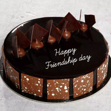 كيكة شوكو فادج ليوم الصداقة: هدايا يوم الصداقة أون لاين