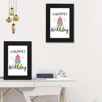 Happy Birthday Black Photo Frame: إطارات صور أون لاين