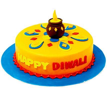 Happy Diwali Chocolate Cake: هدايا لديوالي