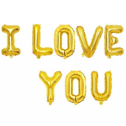 مجموعة بالونات أنا أحبك: هدية أطفال بنات أون لاين