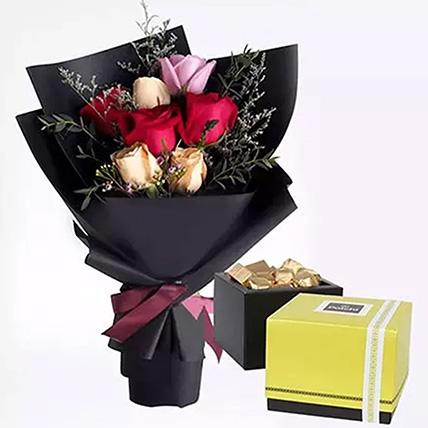ورود مشكّلة وشوكولاتة باتشي: توصيل زهور وشوكولاتة