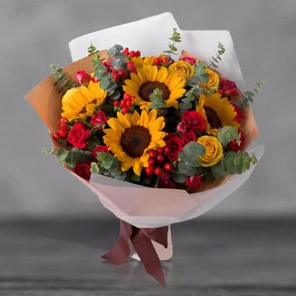 باقة زهور عباد الشمس المشكّلة: باقات ورد فخمة أون لاين