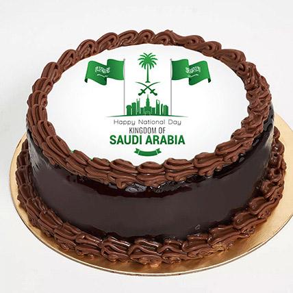 كيكة اليوم الوطني السعودي بترافل الشوكولاتة: هدايا اليوم الوطني في السعودية