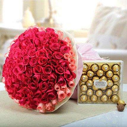 Pink Delight With Chocolate: شوكولاتة عيد الحب