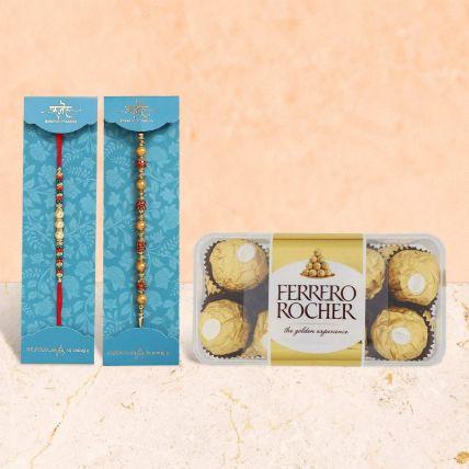 Rakhi & Chocolate Hamper: