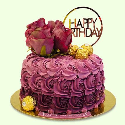 Rosy Birthday Cake: توصيل كيك بتصميم خاص