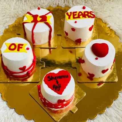مجموعة مكونة من 5 قطع من كب كيك الفوندان: Valentines gifts for Husband