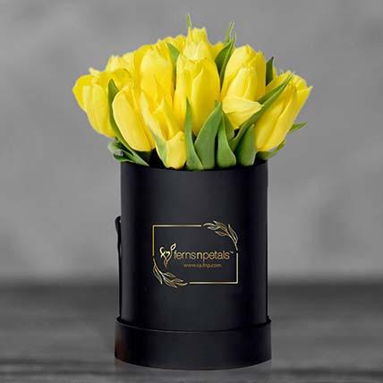 Tulip In A Box: زهور منسقة في صندوق