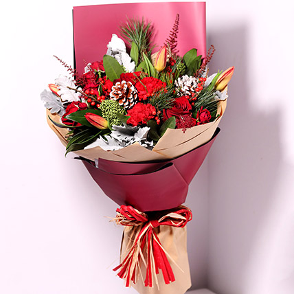 Tulips And Carnations Graceful Bouquet: