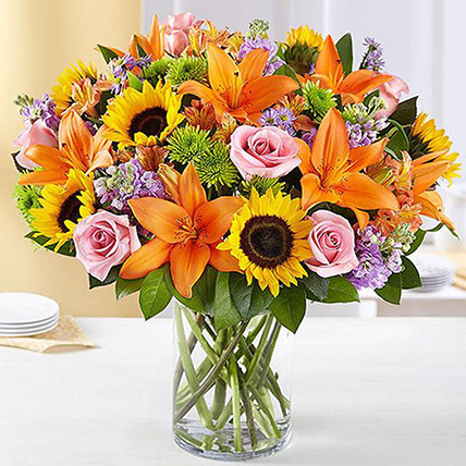 Vibrant Bunch Of Flowers: