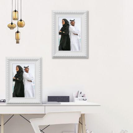 White Photo Frame:
