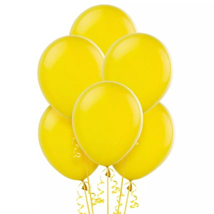 Yellow Helium Balloons: Online Gifts For Boys & Girls