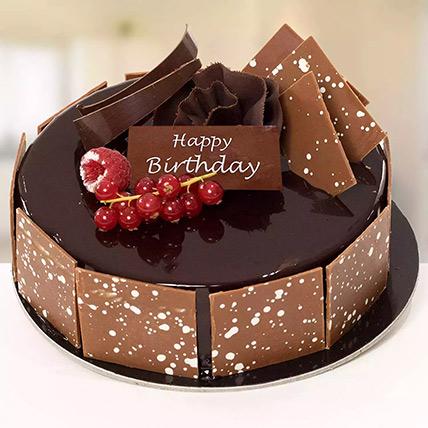 1 Kg Fudge Cake For Birthday