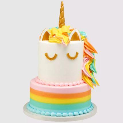 2 Tier Unicorn Red Velvet Cake 1.5 Kg