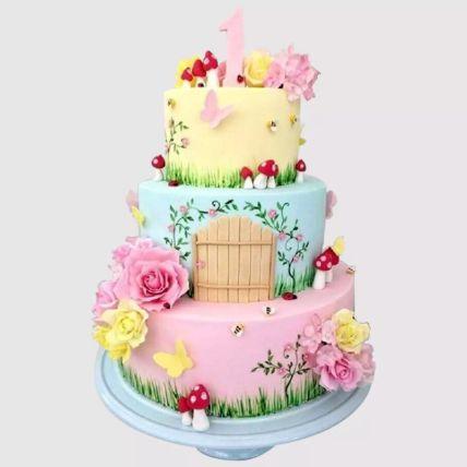 3 Tier Magical Land Red Velvet Cake 3 Kg