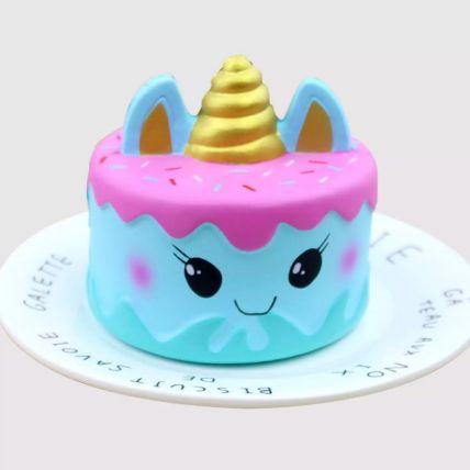 Adorable Unicorn Red Velvet Cake 1.5 Kg