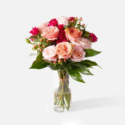 Appealing Assorted Rose & Spray Rose Arrangement