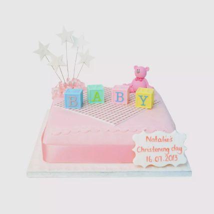 Baby Blocks Fondant Cake 1.5 Kg