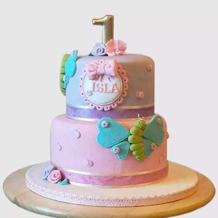 Beautiful 2 Tier Butterfly Red Velvet Cake 2 Kg