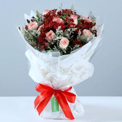 Beautiful Roses & Chrysanthemums Bouquet
