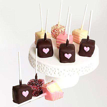 مكعبات التشيز كيك بالشوكولاتة البلجيكية