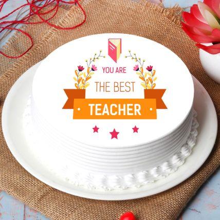 Best Teacher Chocolate Cake Half Kg