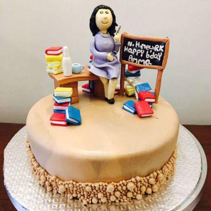 Best Teacher Fondant Cake 2 Kg