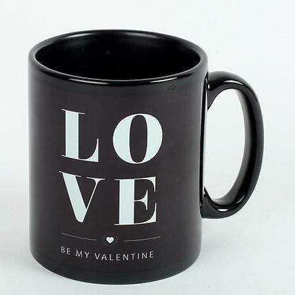 Black Ceramic Love Mug