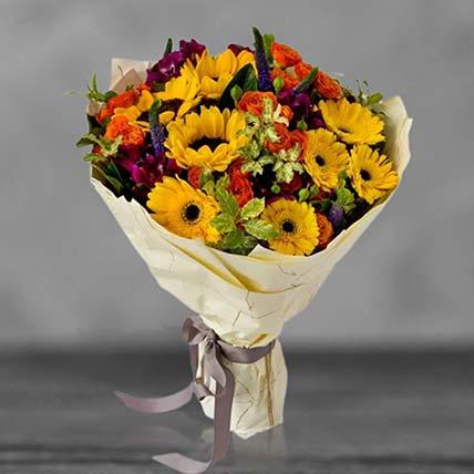 باقة زهور الشمس المشرقة