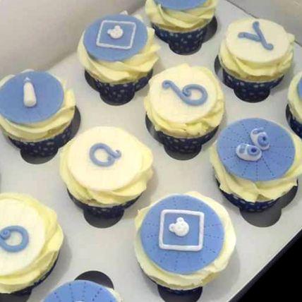 Boy Baby Shower Vanilla Cupcakes