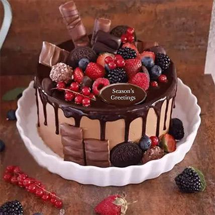 كيكة حلوى الشوكولاتة مغطاة بشوكولاتة رمضان 1 كجم