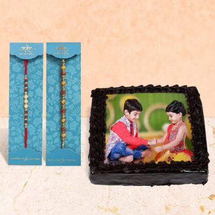 Chocolate Cake Rakhi Set Hamper Half Kg