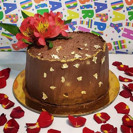 كيكة الشوكولاتة مع الزهور- 1.5 كجم