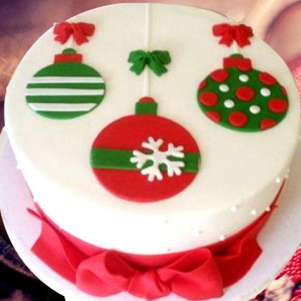 Christmas Theme Cake 8 Portions Chocolate
