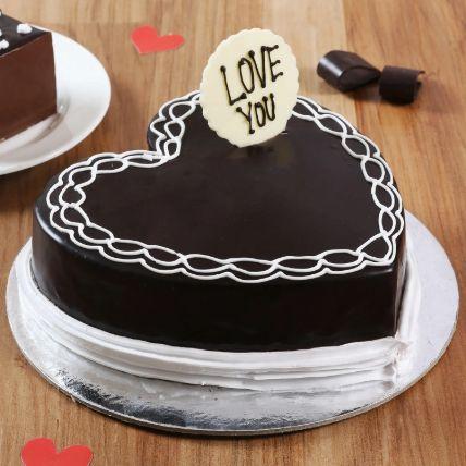 Classic Heart Shaped Chocolate Cake 1 Kg