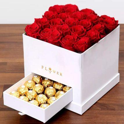 Classic Red Roses Arrangement