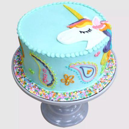 Colourful Unicorn Red Velvet Cake 1 Kg