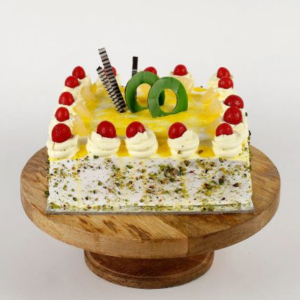 Cream Drop & Cherry Pineapple Cake 1.5 Kg