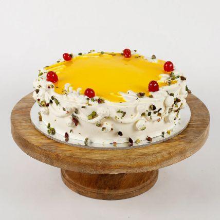 Cream Pista Pineapple Cake Half Kg